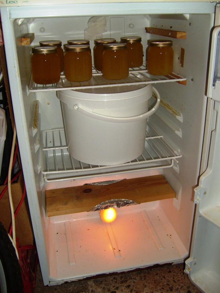 Honey Warming Cabinet With Fridge Beekeeping Forum